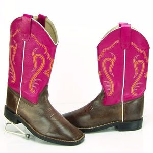 Old West Shoes - Old West Women Western Leather Cowboy Cowgirl Boot